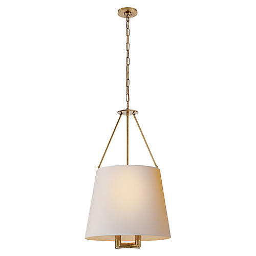 Dalston Hanging Shade, Antiqued Brass