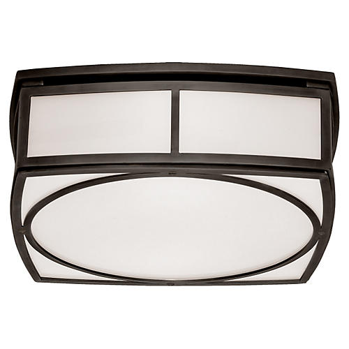 Winston Large Flush Mount, Bronze