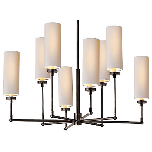 Ziyi 8-Light Chandelier, Bronze
