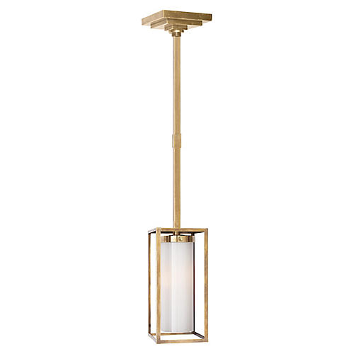 Easterly Pendant, Antiqued Brass