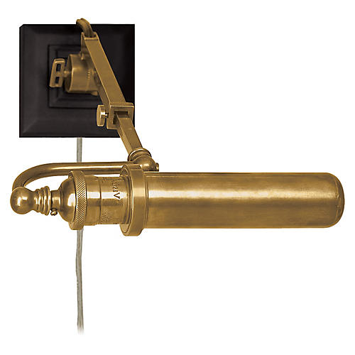 Academy Picture Light, Antiqued Brass