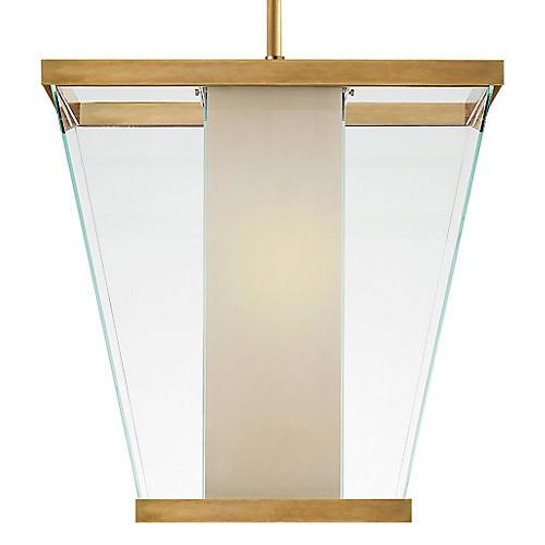 Marin Pendant, Brass/Clear