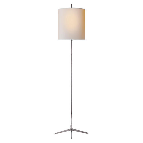 Caron Floor Lamp, Nickel