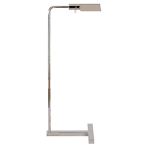 William Pharmacy Floor Lamp, Nickel