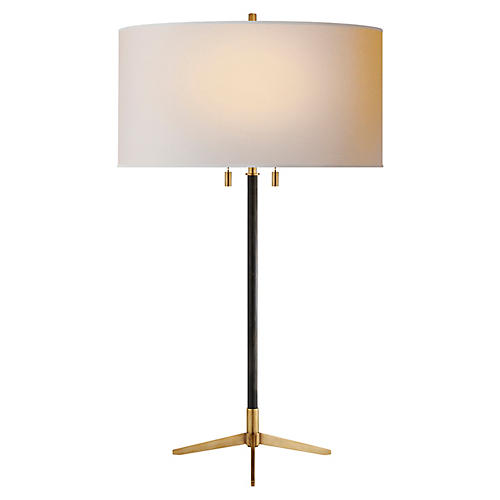 Caron Table Lamp, Bronze/Brass