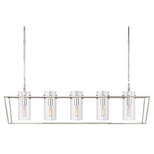 Presidio Large Linear Light, Polished Nickel