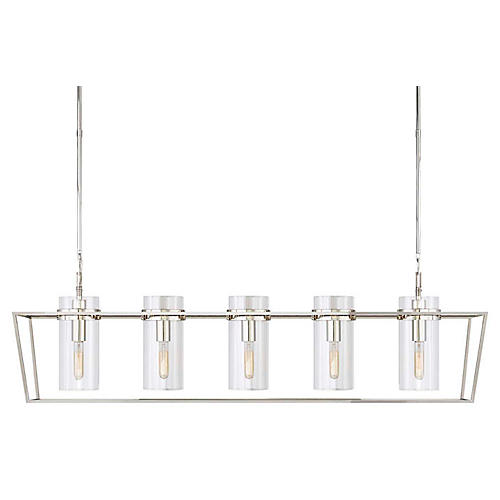 Presidio Large Linear Light, Polished Nickel
