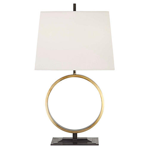 Simone Medium Table Lamp, Bronze/Brass