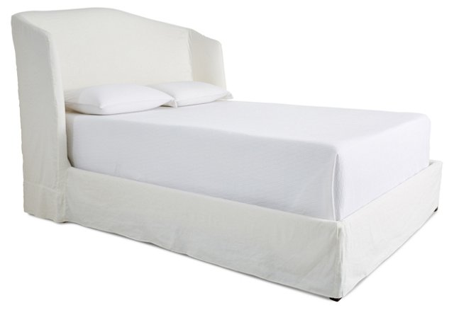 Emma Slipcover Bed, Snow