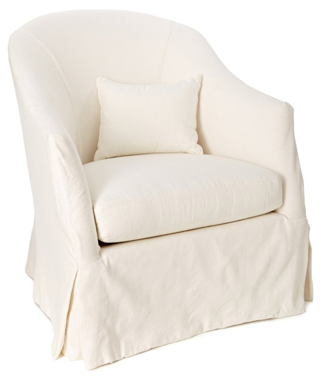 Allison Barrel Chair, White