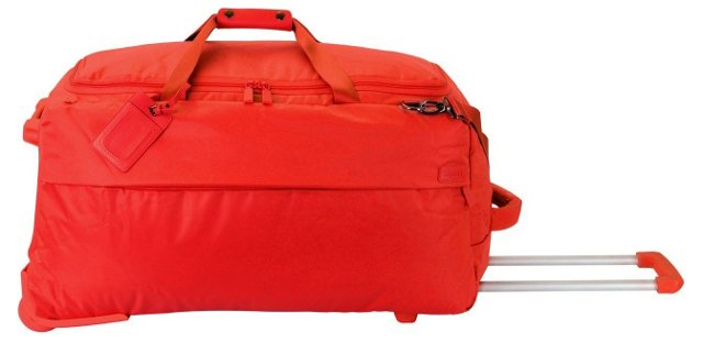 "27"" Foldable 2-Wheel Duffel, Orange"