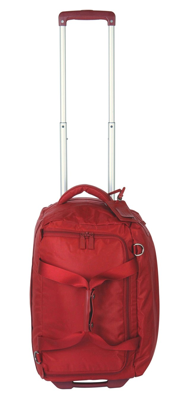 "20"" Foldable 2-Wheel Duffel, Red"