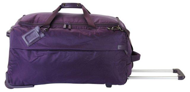 """27"""" Foldable 2-Wheel Duffel, Purple"""