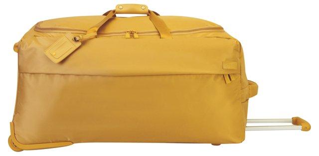 """30"""" Foldable 2-Wheel Duffel, Mustard"""