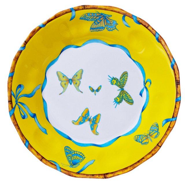 S/4 Melamine Butterfly Dinner Plates