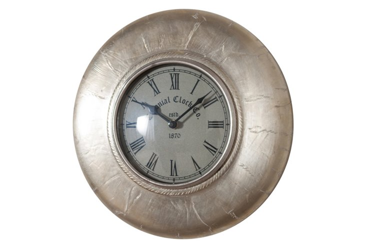 Metal White Wall Clock