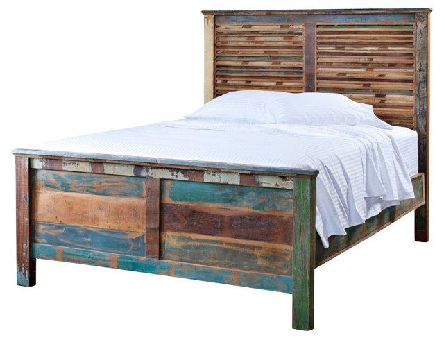 Reclaimed-Wood Bed, Queen
