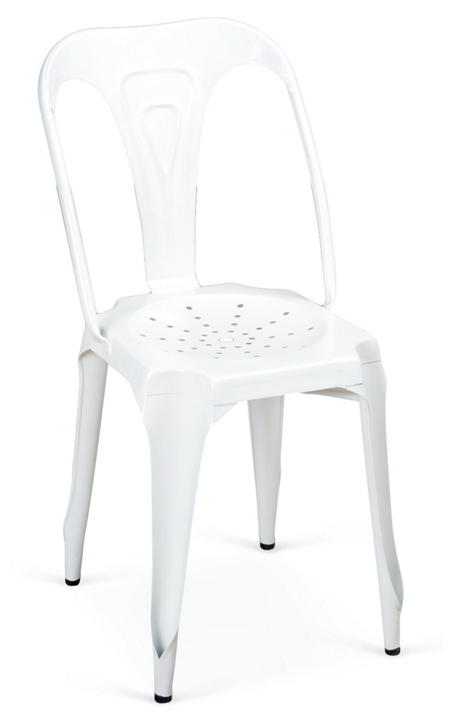Kinsey Metal Dining Chair, White