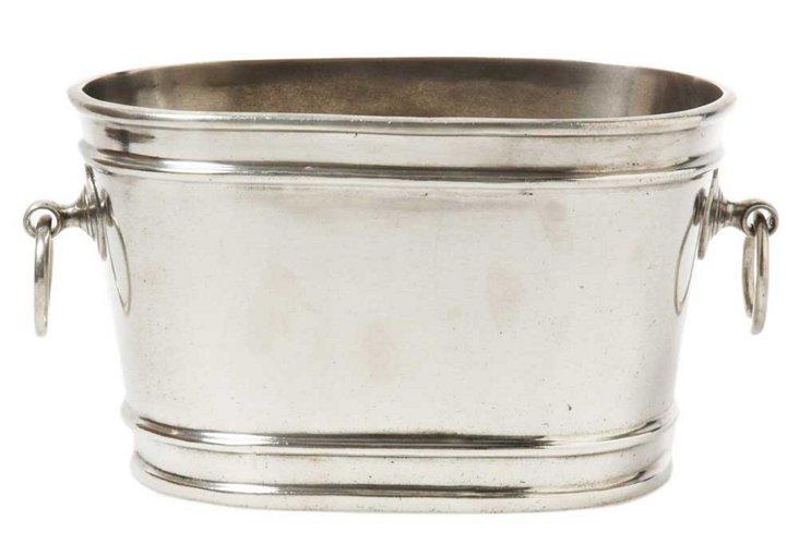 Pewter Ice Bucket w/ Handles