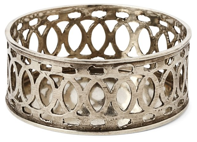Pewter Lattice Bottle Coaster