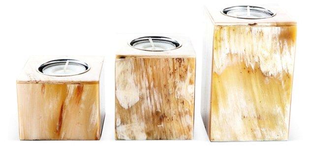 Asst. of 3 Horn Tea-Light Holders