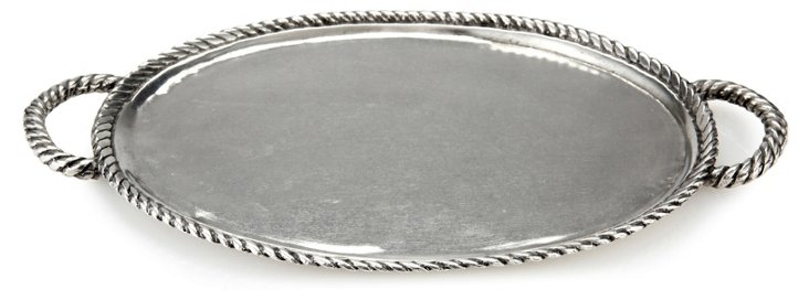 Pewter Rope Handle Tray, Small