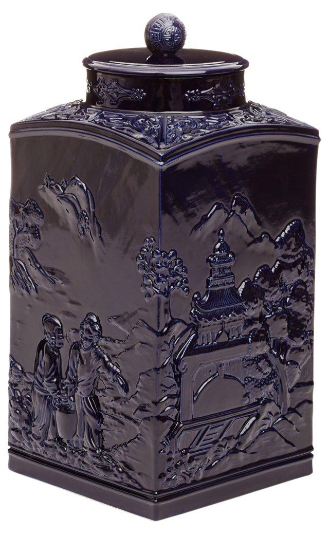"""17"""" Astor Etoile Jar, Navy"""