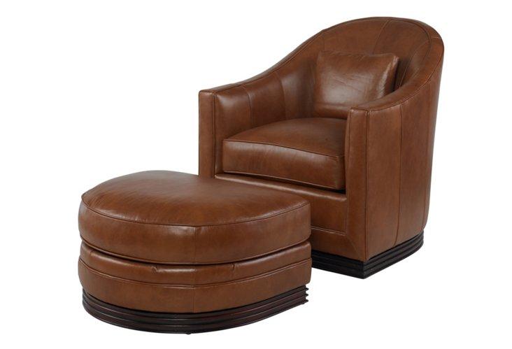 Felix Leather Chair & Ottoman