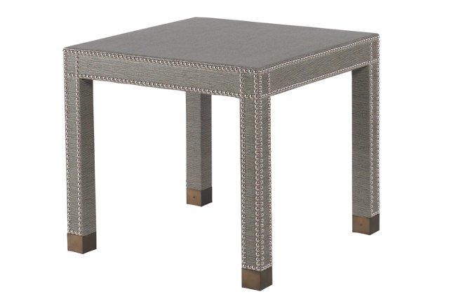 """Smythe 26"""" Square Side Table, Graphite"""