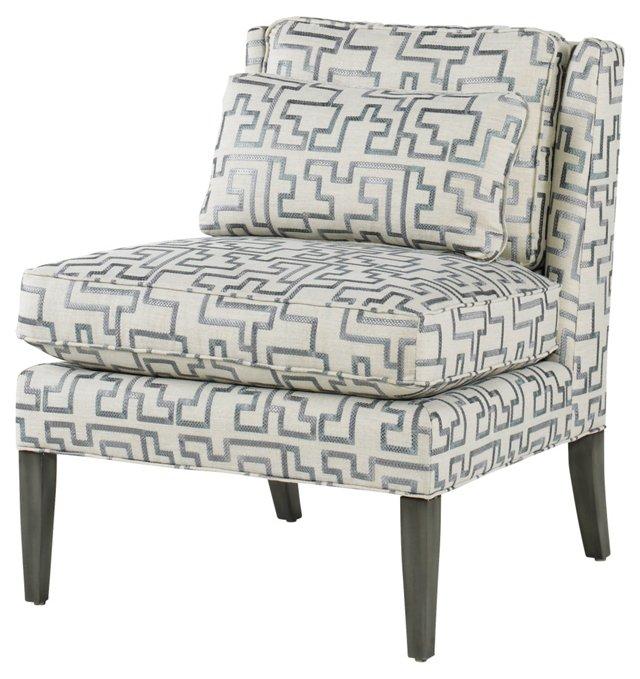 Nichols Chair, Gray/Blue
