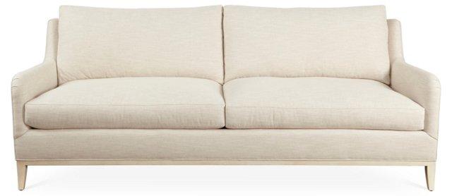 "Fisher 88"" Sofa, White-Beige"