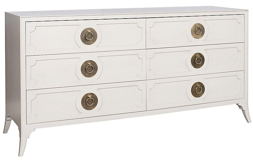 West End 6-Drawer Dresser, Light Gray