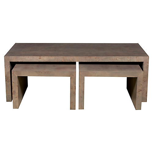 Asst. of 3 Rosun Nesting Tables, Natural