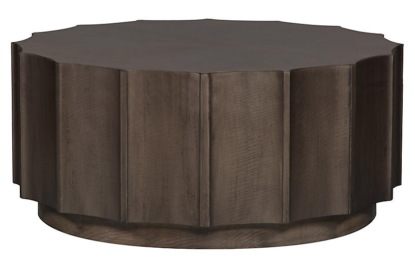 Octavia Shaded Coffee Table, Walnut