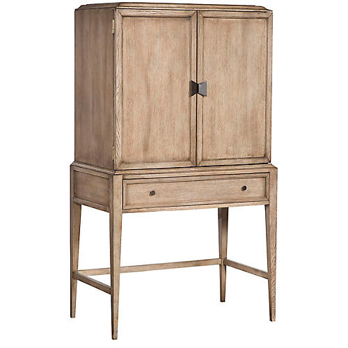 Zane Bar Cabinet, Light Brown