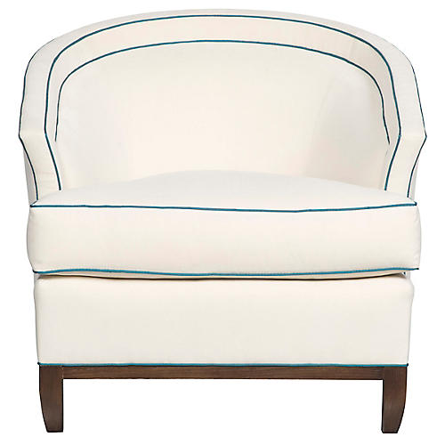 Sheena Accent Chair, Bone Crypton