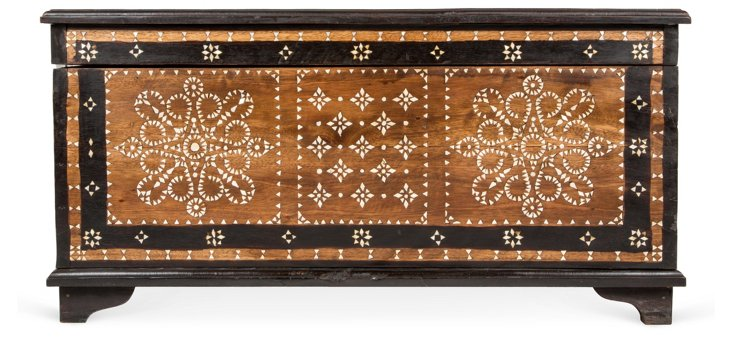 Large Mother-of-Pearl Inlaid Chest