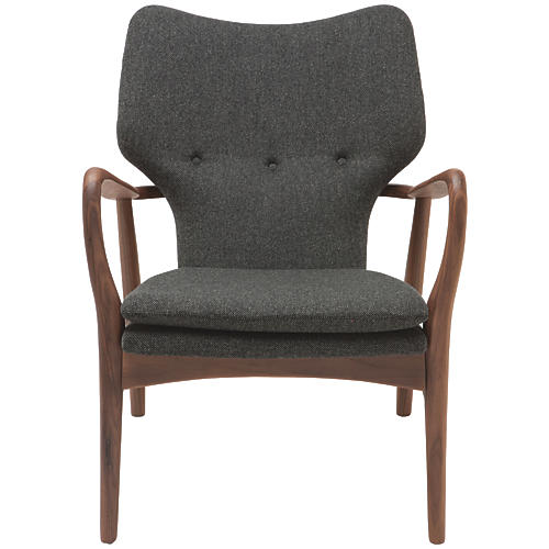 Patrik Lounge Chair, Gray/Walnut