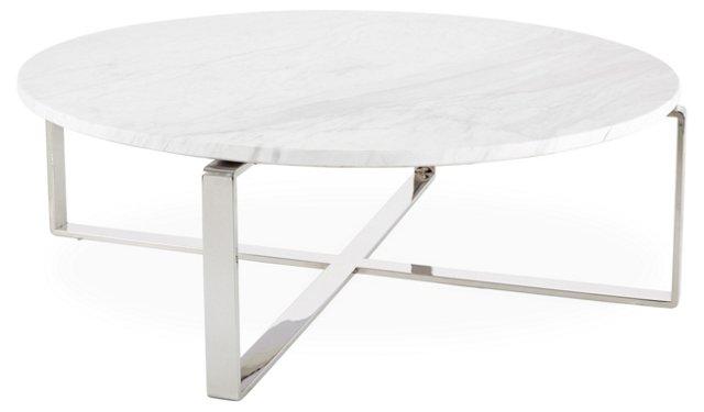 Rosa Dia Coffee Table, White