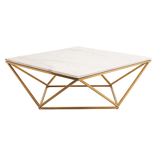 Jasmine Coffee Table, Gold