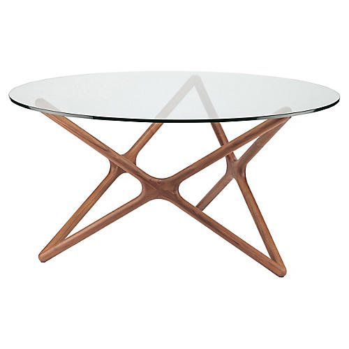 "Alyssa 59"" Round Dining Table, Walnut"
