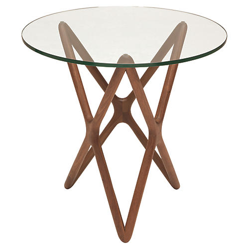 Star Side Table, Ash/Clear