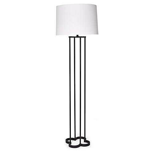 Clover Floor Lamp, Aged Iron