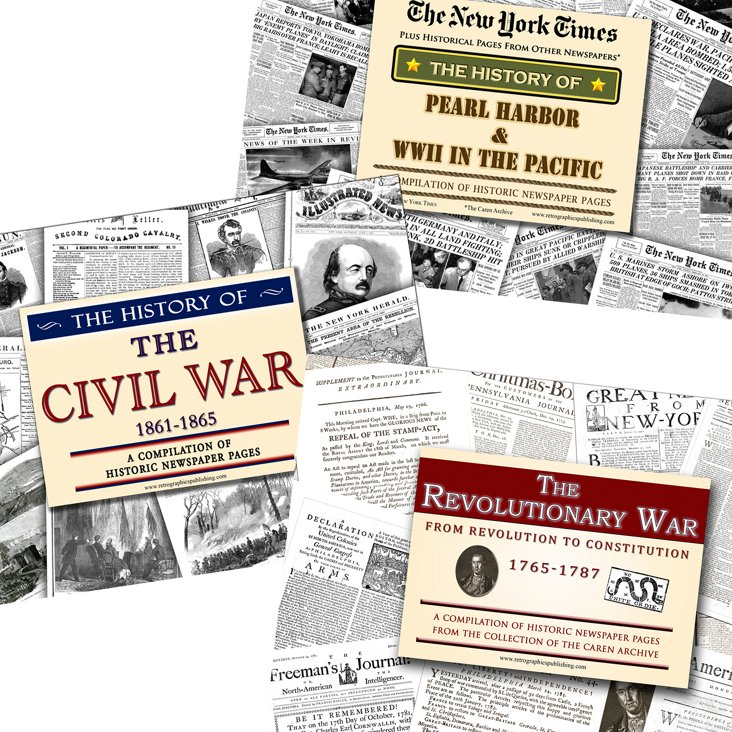 Vintage News Set: American War History