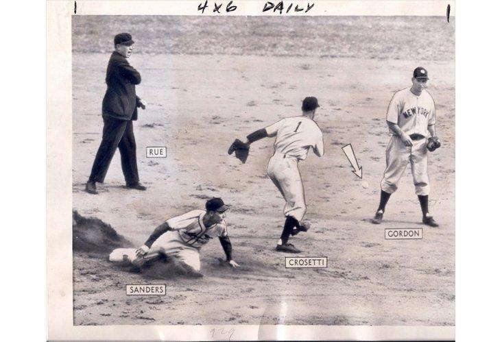 Press Photo, NY Yankees in the field