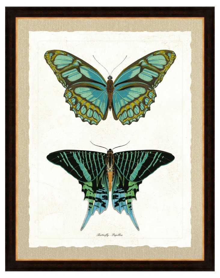 Double Butterfly Print I