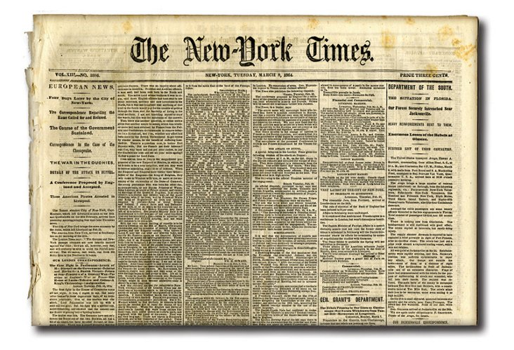 Civil War Original Newspaper