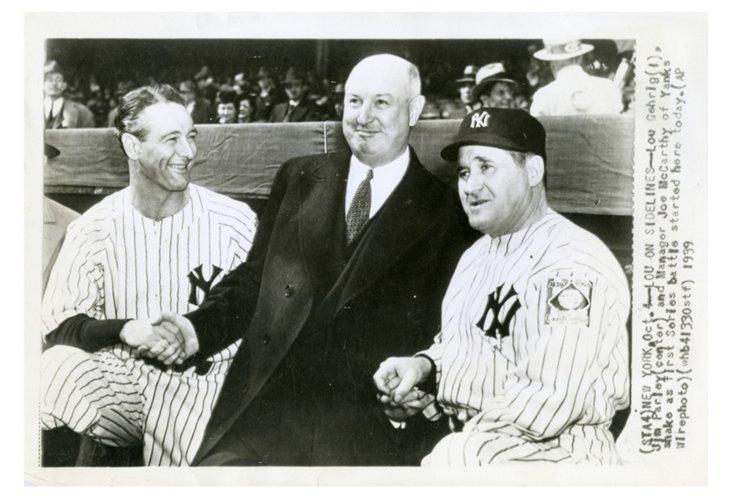 Lou Gehrig at 1939 World Series Photo