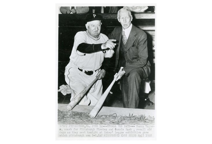 Honus Wagner with Connie Mack 1948