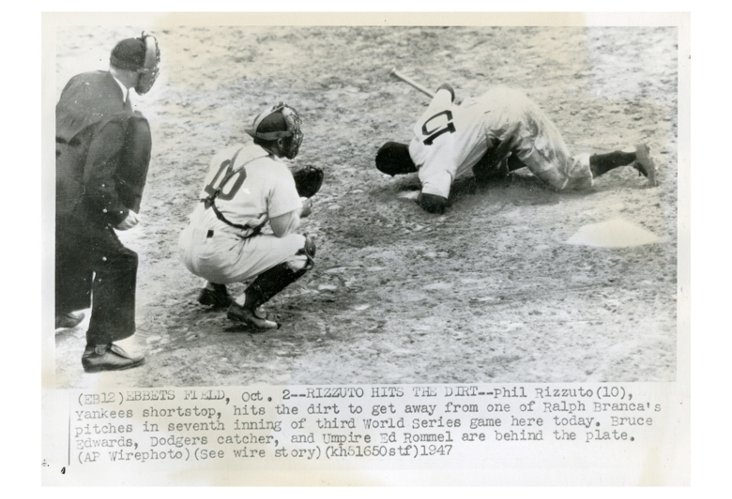 "Phil Rizzuto ""Hits The Dirt"" 1947"